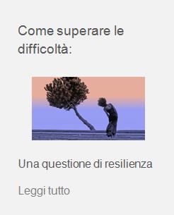 difficoltà resilienza
